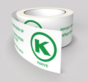 OK Kosher Premium printed PVC Tape