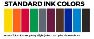 Standard ink colors