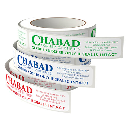 Chabad Kosher Certified stickers labels
