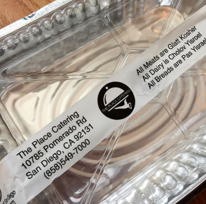 tape on food container