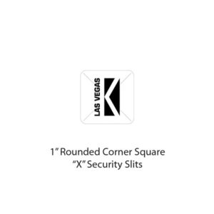 "1"" Tamper Evident label with Security Slits"