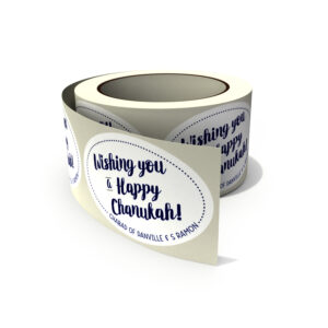 Custom Happy Chanukah stickers